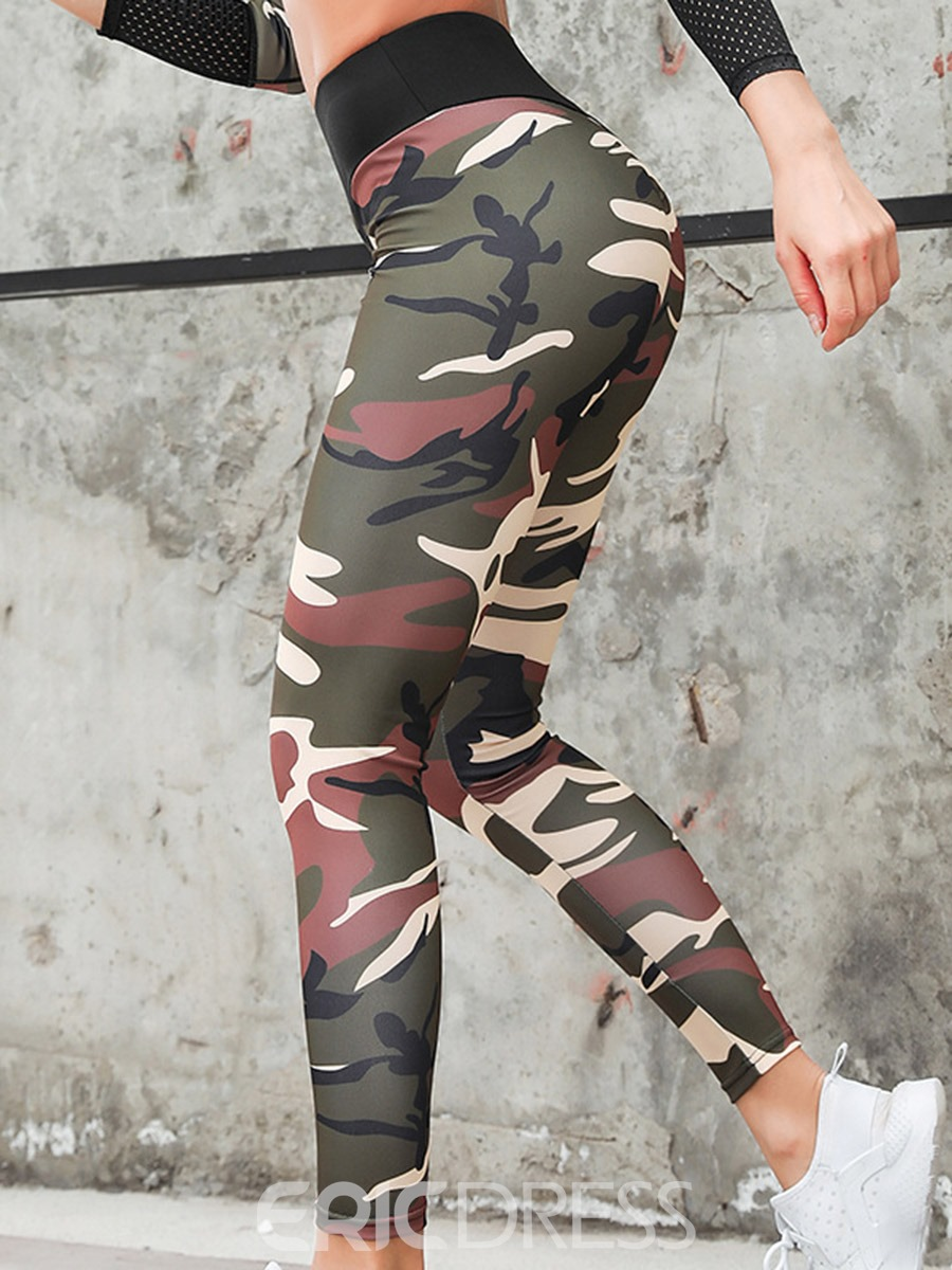 Ericdress Camouflage Print Anti-Friction Women's Leggings