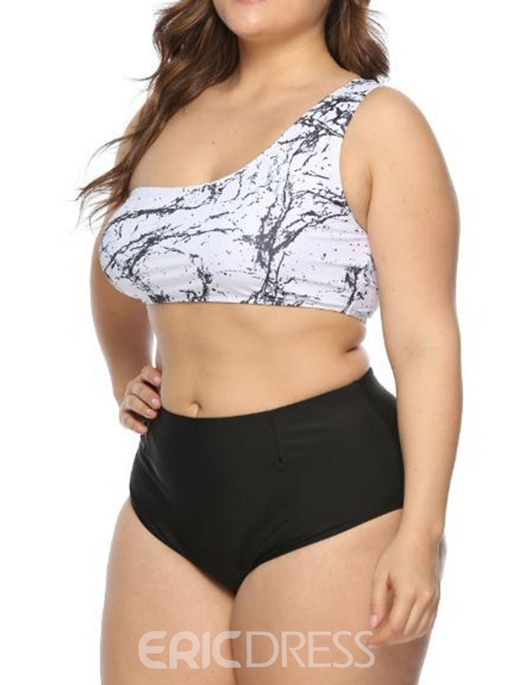 Ericdress Plus Size Color Block Stripe Stretchy Sexy Swimsuit