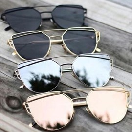 Ericdress Cat Eye Reflect Light Fashion Sunglasses