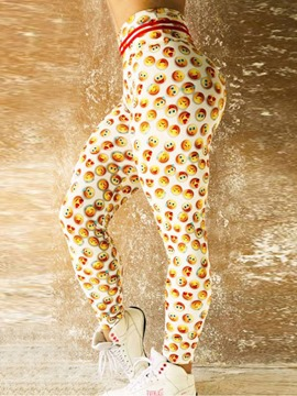 Ericdress Emoticon Print Quick Dry Women's Leggings