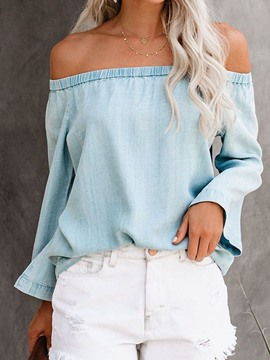 Ericdress Off Shoulder Plain Standard Single Blouse