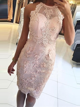 Ericdress Sleeveless Sheath Mini Lace Homecoming Dress