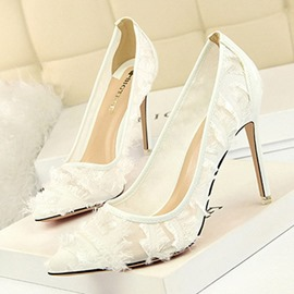Ericdress Lace Slip-On Stiletto Heel Women's Pumps