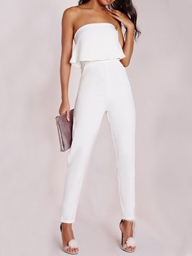 Ericdress White Dressy Ankle Length Prom Loose Jumpsuit