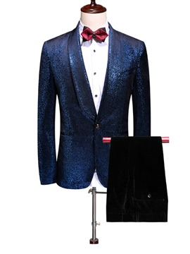 Ericdress One Button Fashion Button Men's Dress Suit