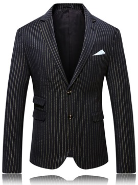 Ericdress Notched Lapel Slim Color Block Men's leisure Blazers