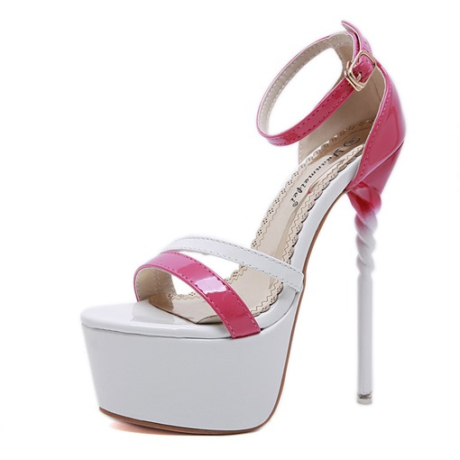 Ericdress Color Block Platform Stiletto Heel Women's Sandals