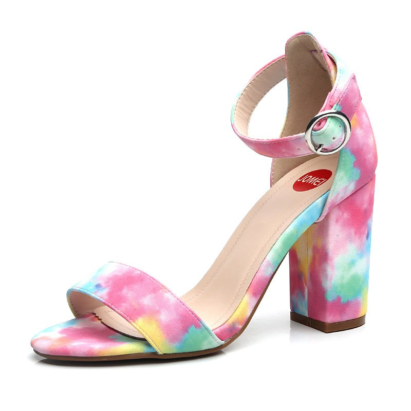 Ericdress PU Chunky Heel Heel Covering Buckle Women's Sandals