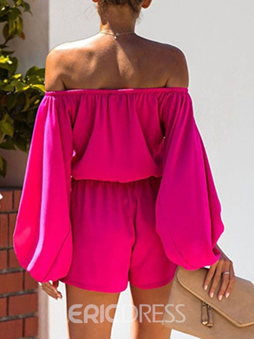 Ericdress Plain Casual Shorts Loose Straight Jumpsuit