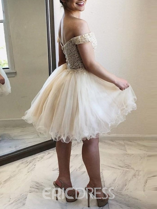 Ericdress Beading A-Line Off-The-Shoulder Short Homecoming Dress