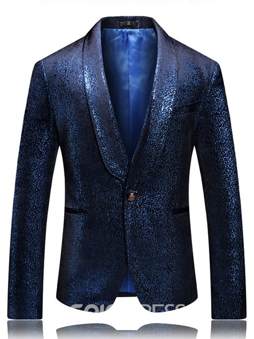 Ericdress One Button Button Notched Lapel Men's leisure Blazers