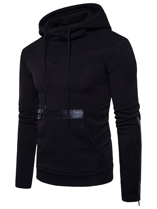 Ericdress Plain Pullover Zipper Slim Men's Hoodies