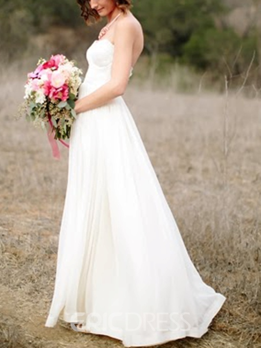 Ericdress Sweetheart A-Line Lace Beach Wedding Dress
