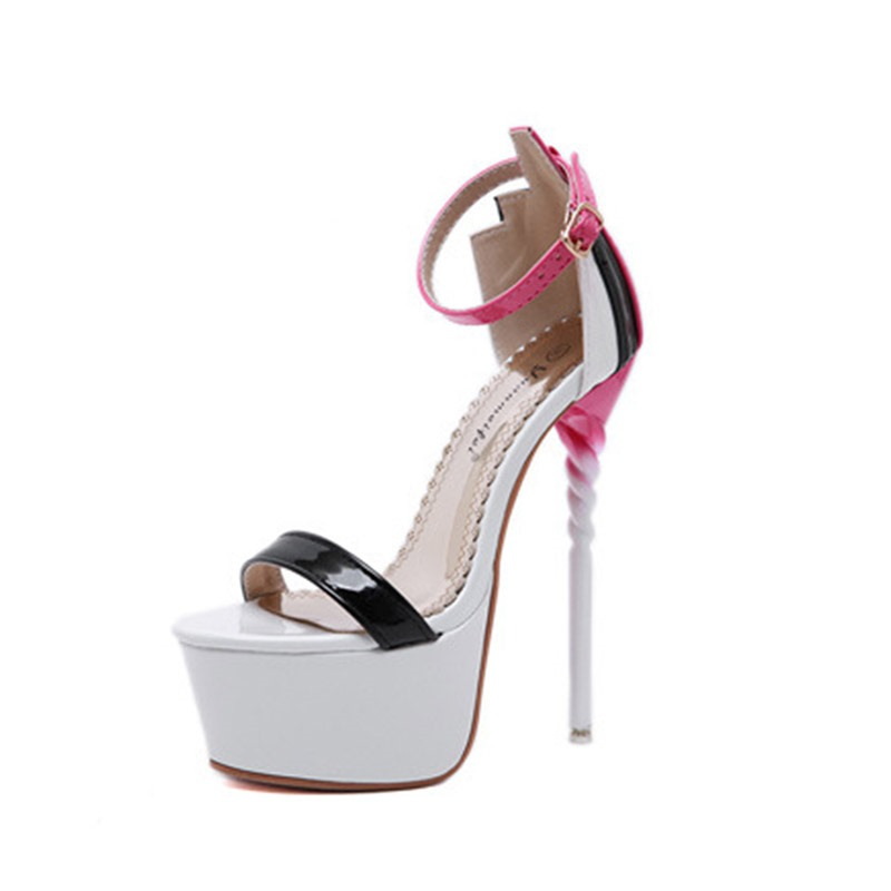 Ericdress Color Block Heel Covering Stiletto Heel Platform Women's Sandals