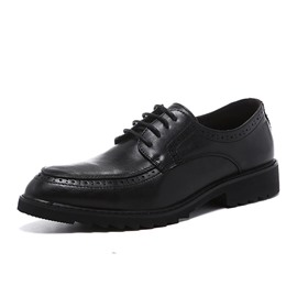 Ericdress Plain Lace-Up Round Toe Men's Oxfords