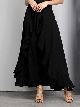 Ericdress Asymmetrical Ankle-Length Casual Plain Skirt