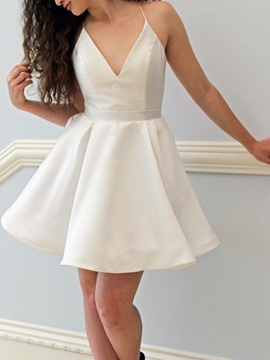 Ericdress Halter Short Pleats A-Line Homecoming Dress