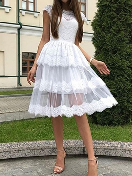 Ericdress Scoop Knee-Length Appliques A-Line Homecoming Dress