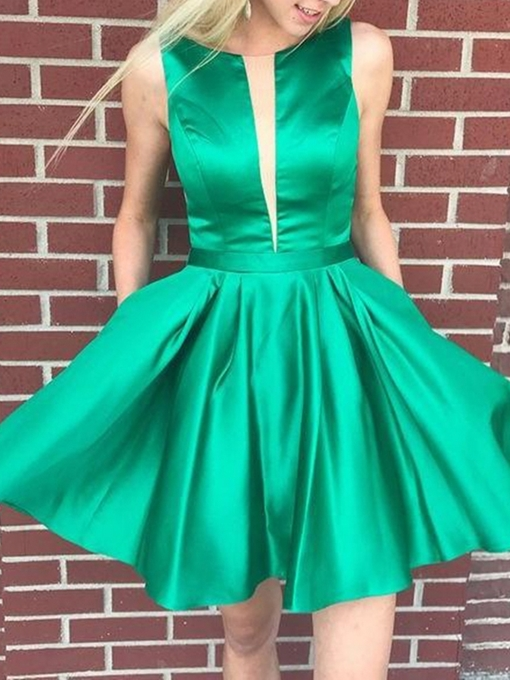 Ericdress Sleeveless Hollow A-Line Short Homecoming Dress