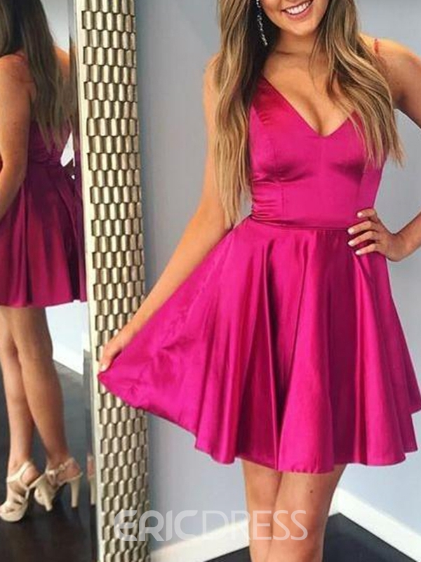 Ericdress A-Line Spaghetti Straps Sleeveless Short Homecoming Dress
