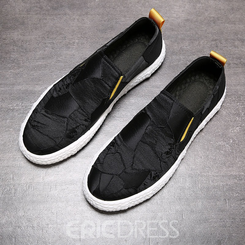 Ericdress PU Slip-On Color Block Round Toe Men's Skate Shoes