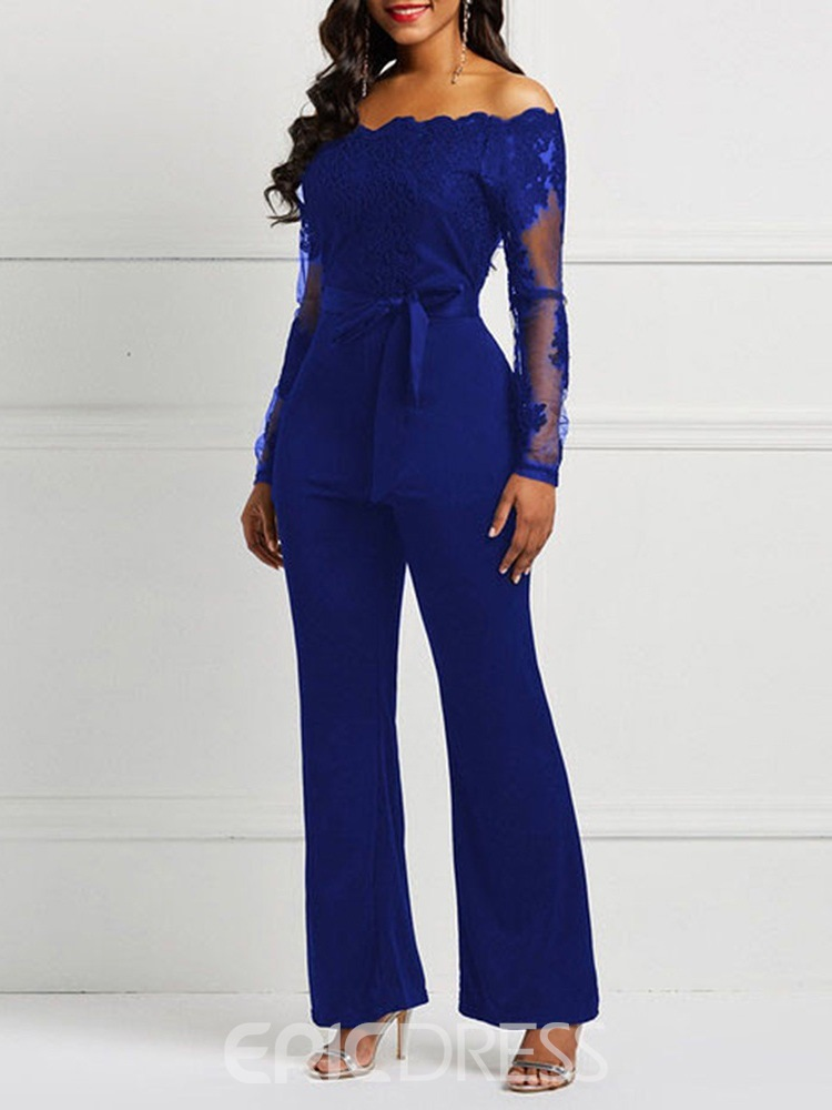 Ericdress Lace Patchwork Skinny Women's Jumpsuit
