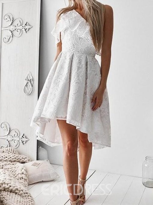Ericdress A-Line Lace Asymmetry One Shoulder Homecoming Dress