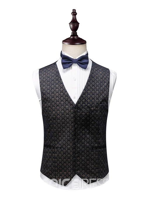 Ericdress Single-Breasted Color Block Men's Dress Suit