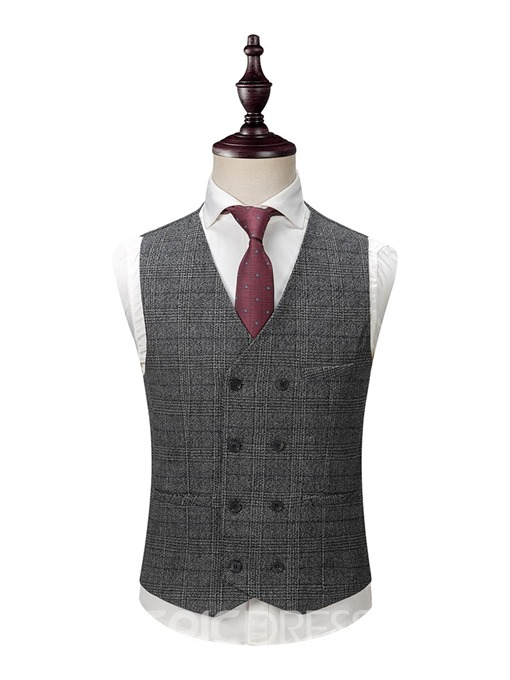 Ericdress Double-Breasted Pocket Men's Dress Suit