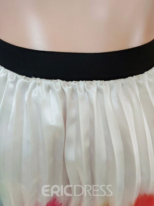 Ericdress Gradient Pleated High Waist Fashion Skirt