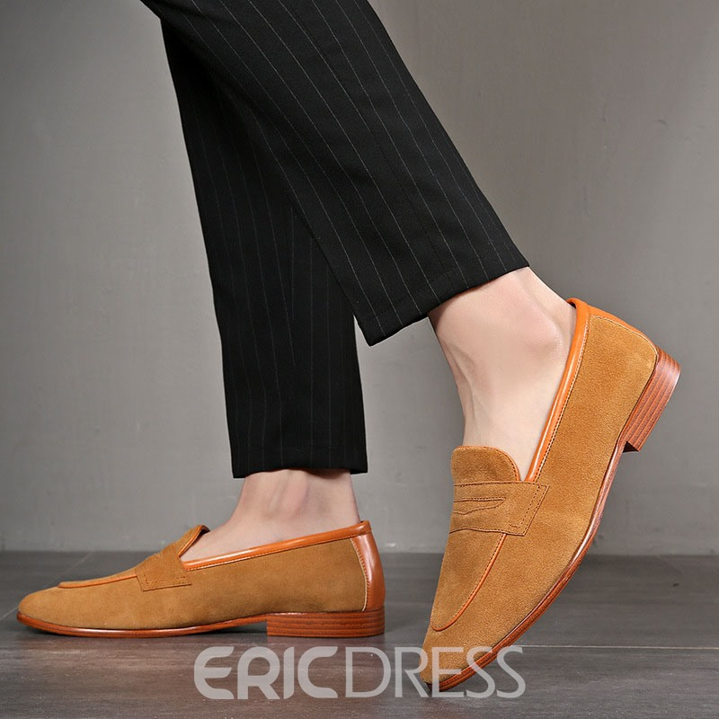 Ericdress Plain Low-Cut Upper Round Toe Slip-On Men's Loafers