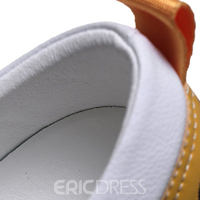 Ericdress PU Lace-Up Color Block Round Toe Men's Skate Shoes