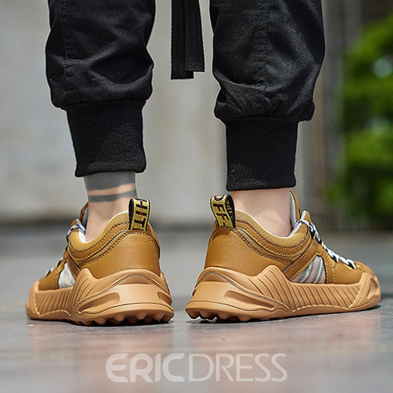 Ericdress Color Block Round Toe Men's Outdoor Sneakers