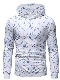 Ericdress Pullover Geometric Print Men's Slim Hoodies