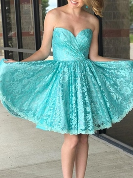 Ericdress Sleeveless Sweetheart Mini A-Line Homecoming Dress 2019