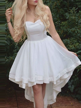 Ericdress A-Line Hollow Sweetheart Sleeveless Homecoming Dress