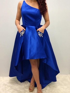 Ericdress Sleeveless Beading One Shoulder A-Line Homecoming Dress