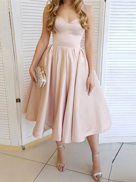 Ericdress Sweetheart Tea-Length A-Line Sleeveless Homecoming Dress