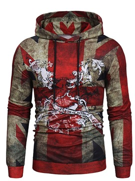 Ericdress Color Block Pullover Men's Print Hoodies