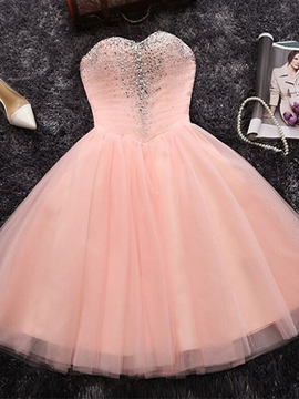 Ericdress Knee-Length A-Line Beading Sweetheart Homecoming Dress