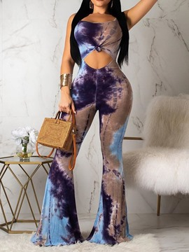 ericdress sangle voyage look cravate slim-combo bellbottoms