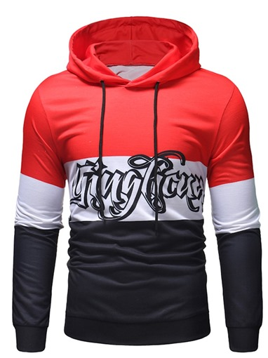 Ericdress Color Block Pullover Thin Pullover Men's Casual Hoodies