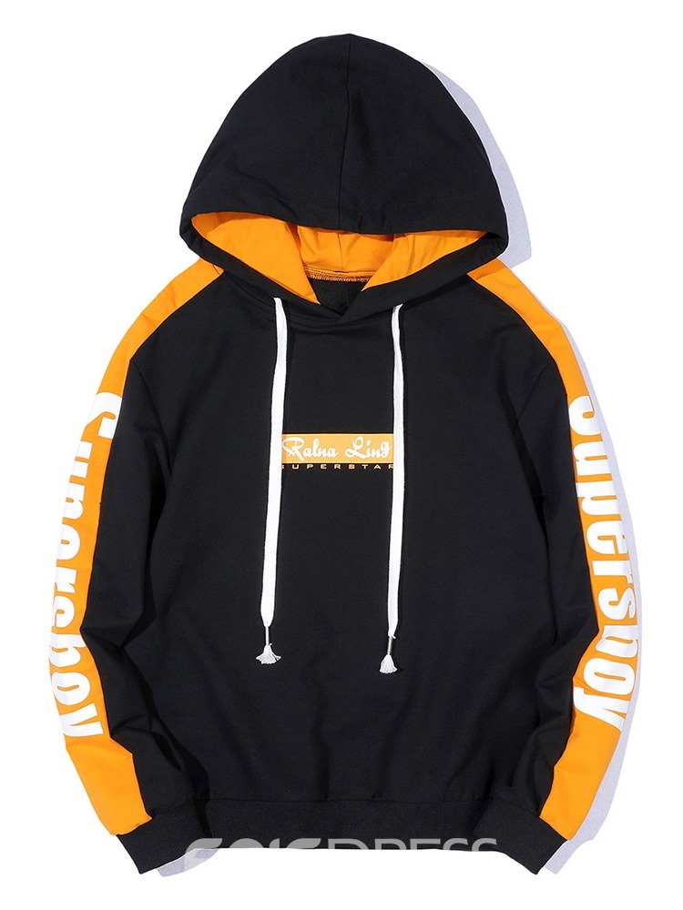 Ericdress Patchwork Color Block Pullover Men's Loose Hip Hop Hoodies