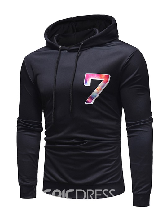 Ericdress Color Block Thin Patchwork Men's Casual Hoodies