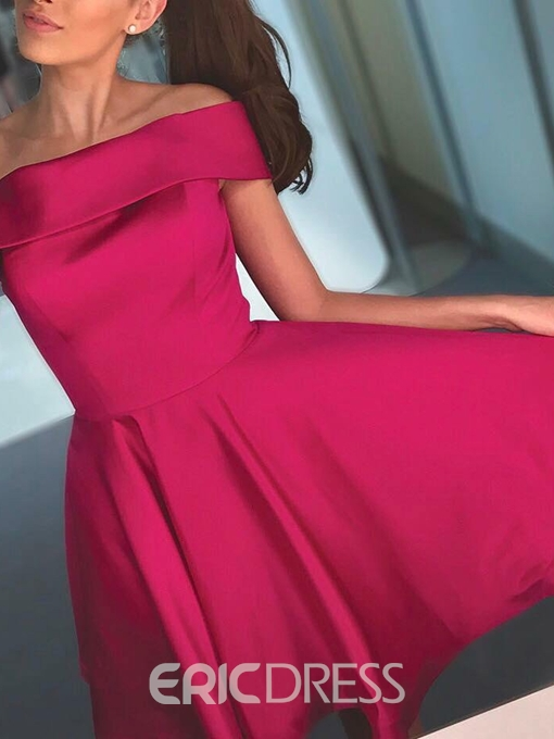 Ericdress Off-The-Shoulder A-Line Sleeveless Knee-Length Homecoming Dress