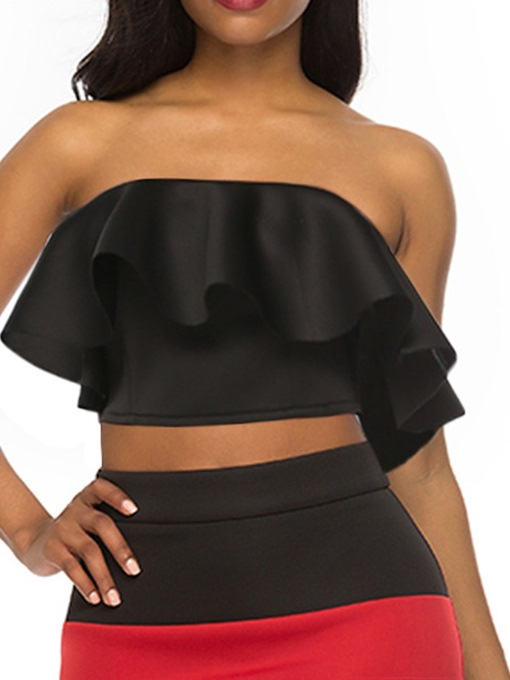 Ericdress Polyester Backless Off-Shoulder Short Sexy Tank Top