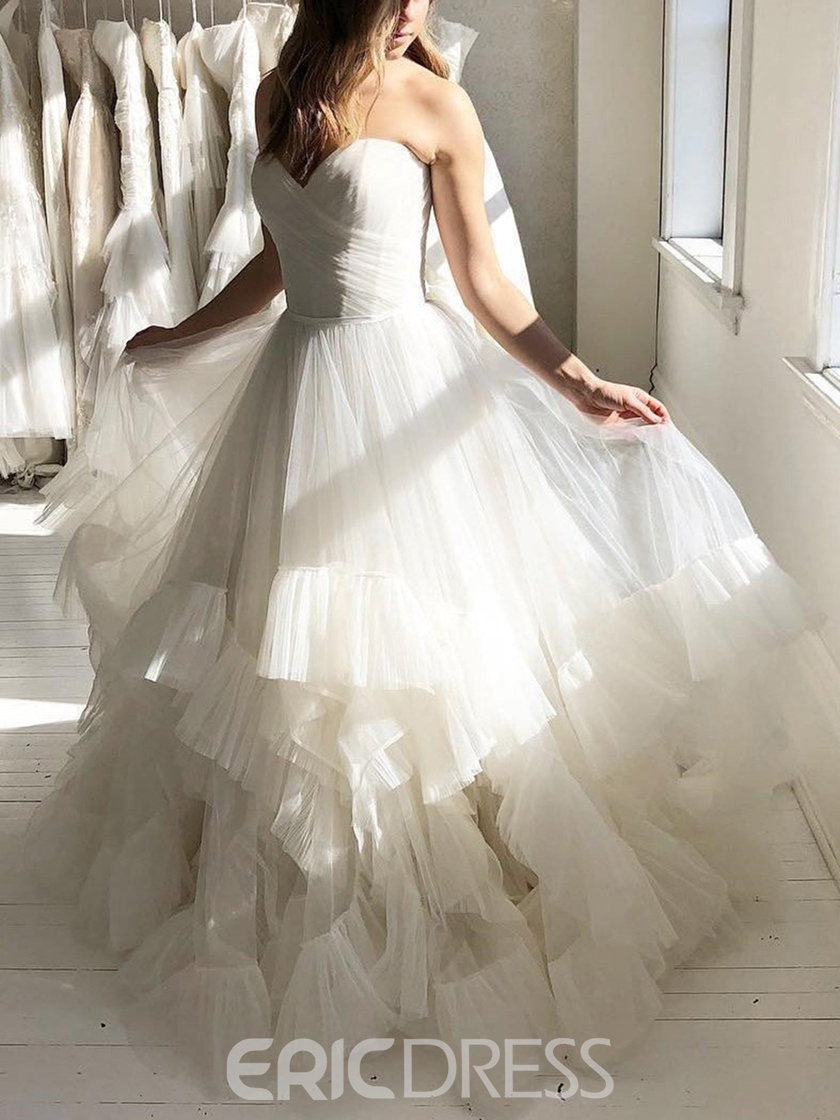 Ericdress Ball Gown Ruffles Sweetheart Hall Wedding Dress