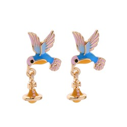 Ericdress Animal Alloy Bird Earrings