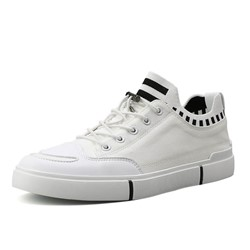 Ericdress Flyknit Lace-Up Color Block Round Toe Mens Skate Shoes фото