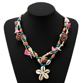 Ericdress Floral Simple Pendant Necklace